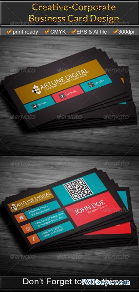Corporate Business Card 6674838