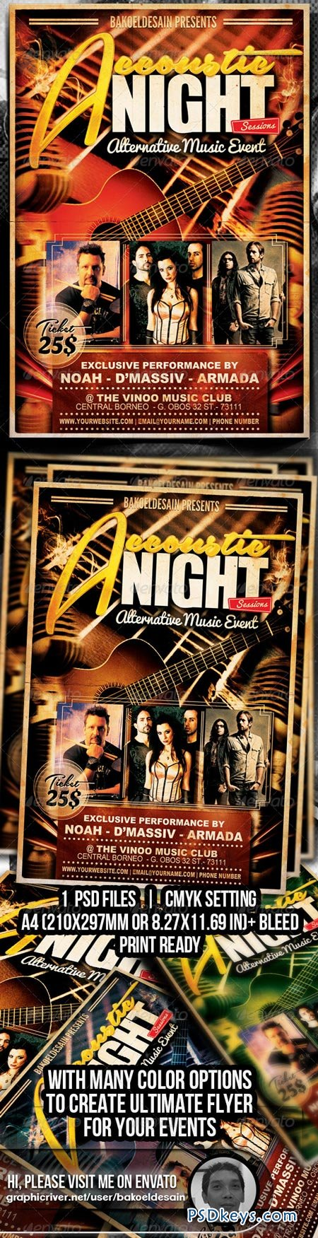 Accoustic Night Sessions Flyer 6241394