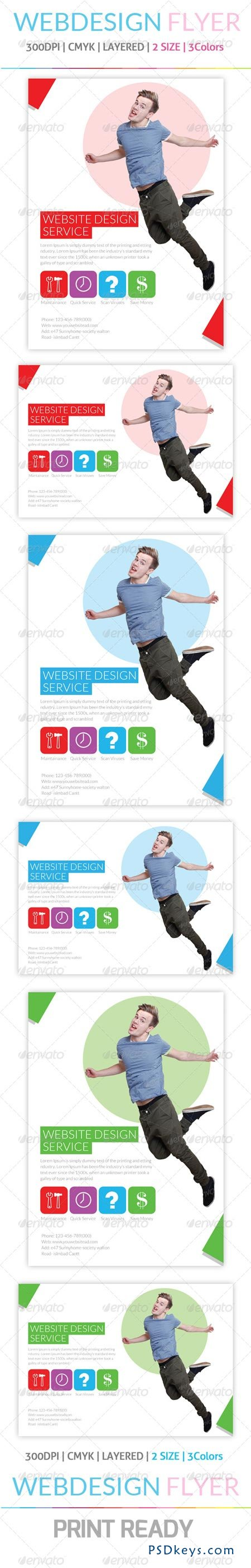 Web Design Flyer & Ad Template 6222762