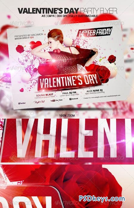Valentine's Day Party Flyer 3776306
