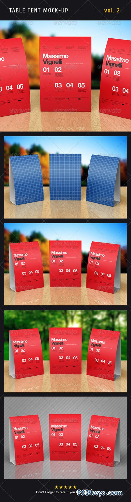 Paper Table Tent Mock-up Template Vol.2 5089197