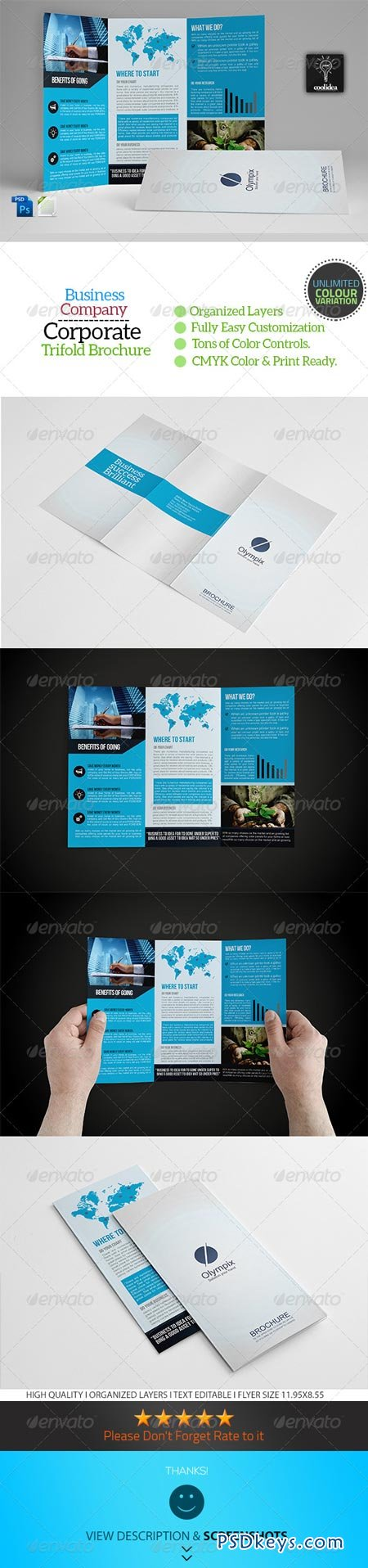 A Trifold Business Brochure Template Vol Free - A4 tri fold brochure template