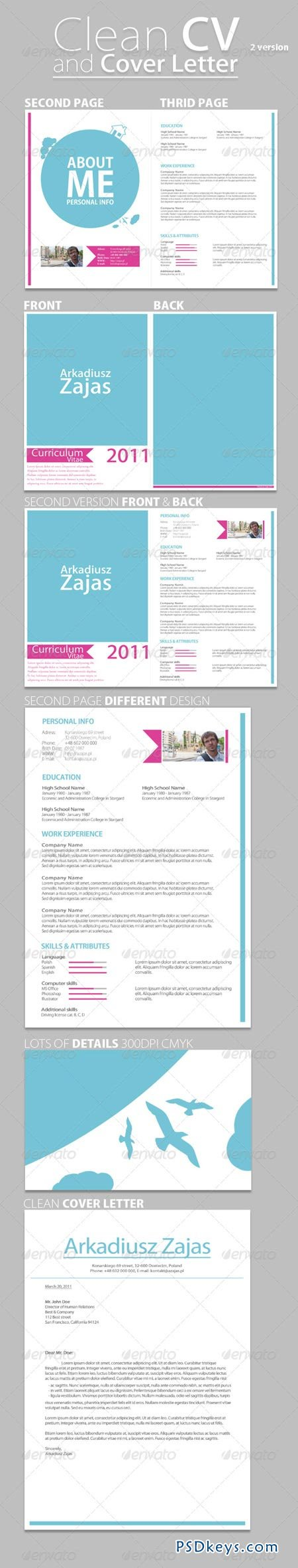 clean cv  u0026 cover letter 236478  u00bb free download photoshop vector stock image via torrent