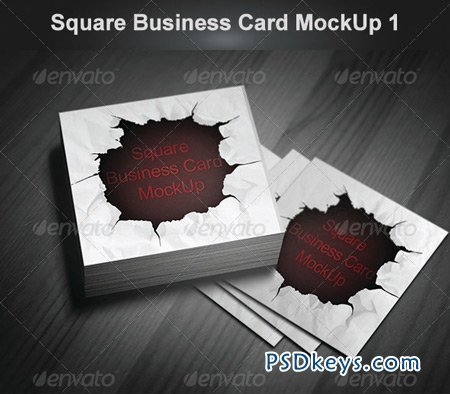 Square Business Card MockUp 1 4824472