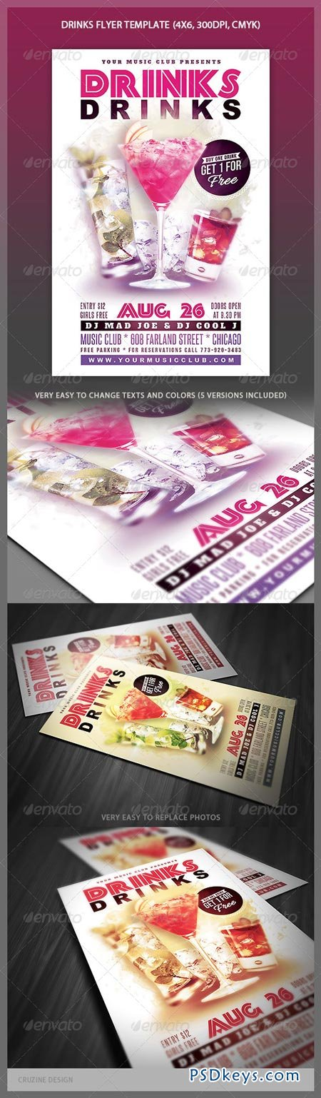 Drinks Flyer Template 4423671