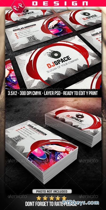 DJ Business Card Template Free Download Photoshop Vector - Free dj business card template
