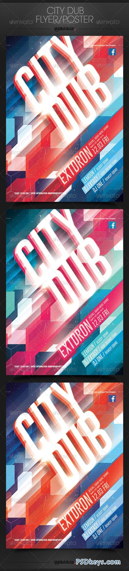 City Dub Party Poster Flyer 6903667