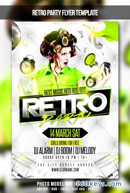 Retro Party Flyer