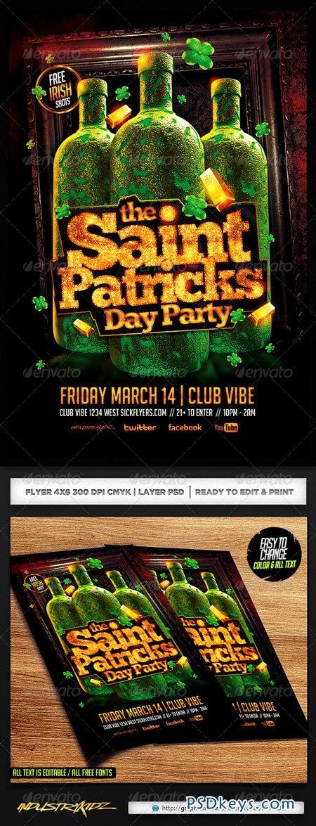 St. Patricks Day Party Flyer PSD 6902328