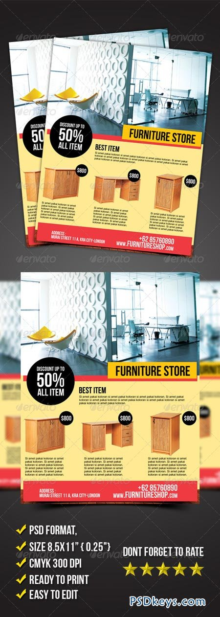 Furniture Store Flyer 6899161