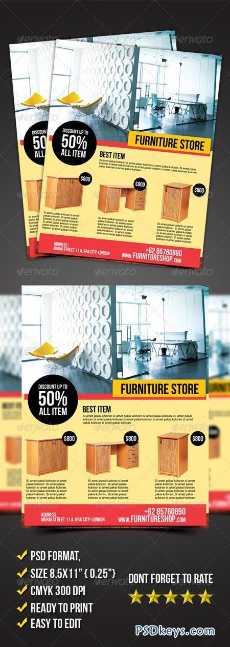 Graphicriver Furniture Store Flyer 6899161