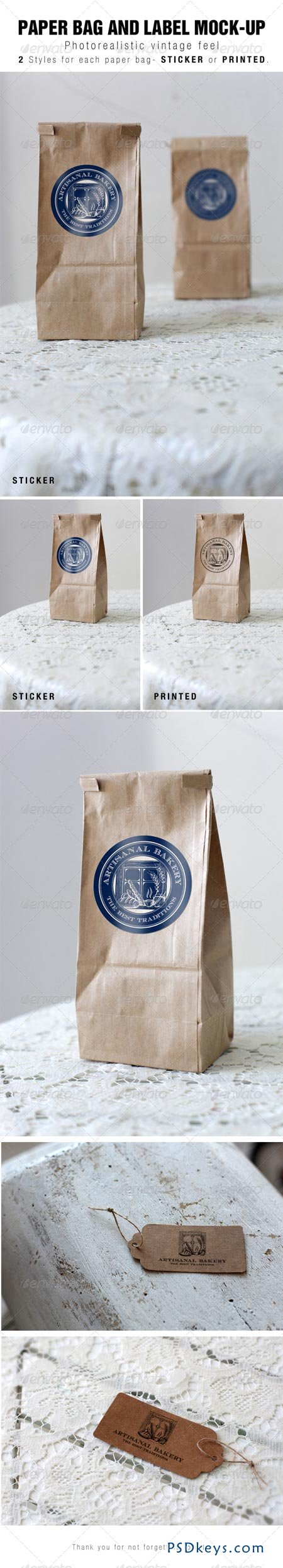 Paper Bag and Label Mock-up 6830128