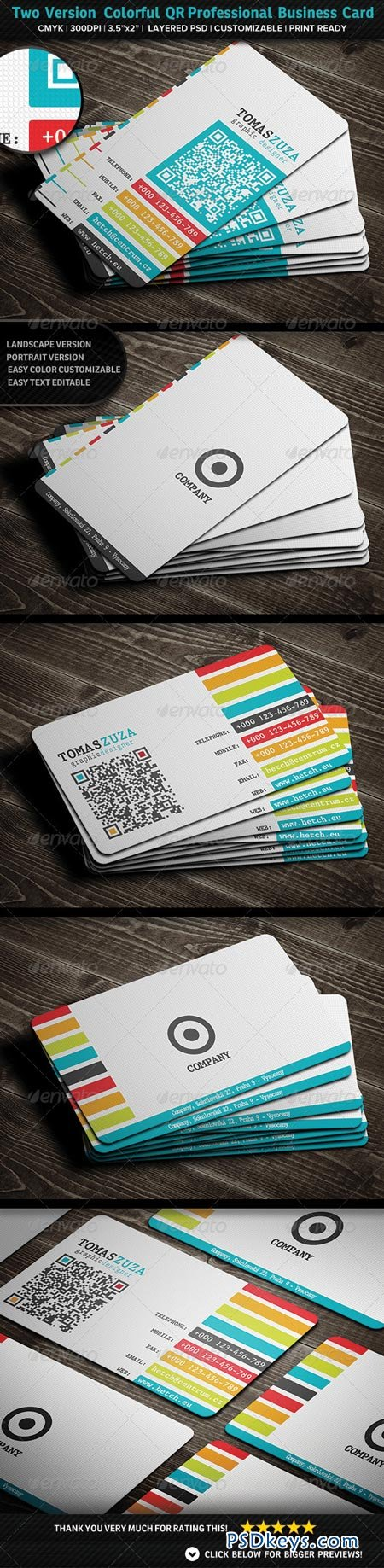 Two Version Colorful QR Professional Business 2883814