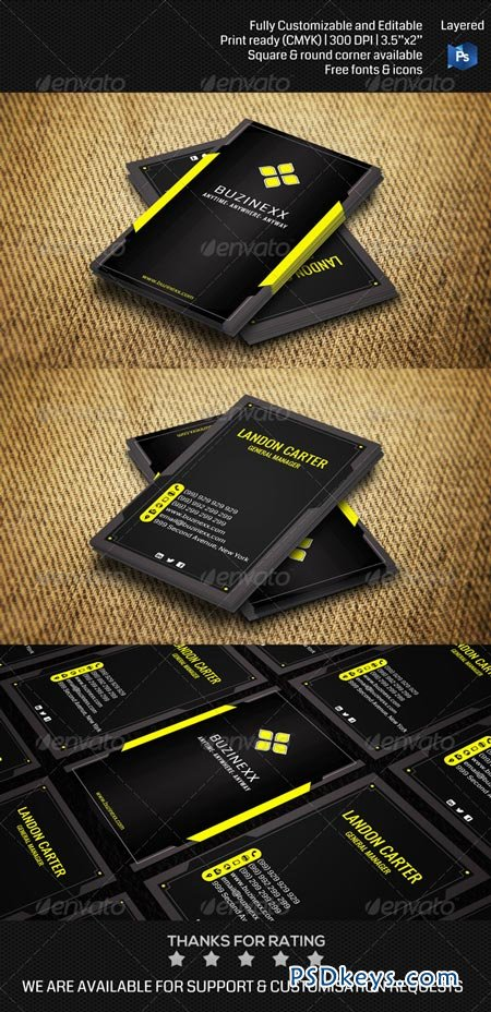 Futuristic Corporate Business Card THN002 6878622