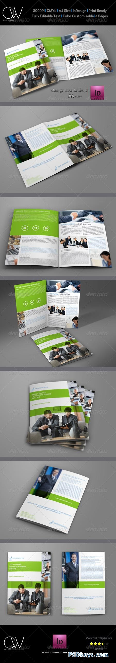 Company Brochure Bi-Fold Template Vol.19 6913553