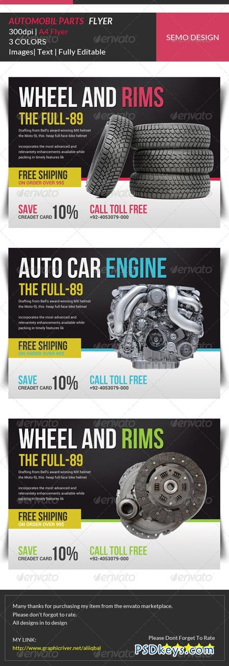 Automobile Business Flyer Template 6913523