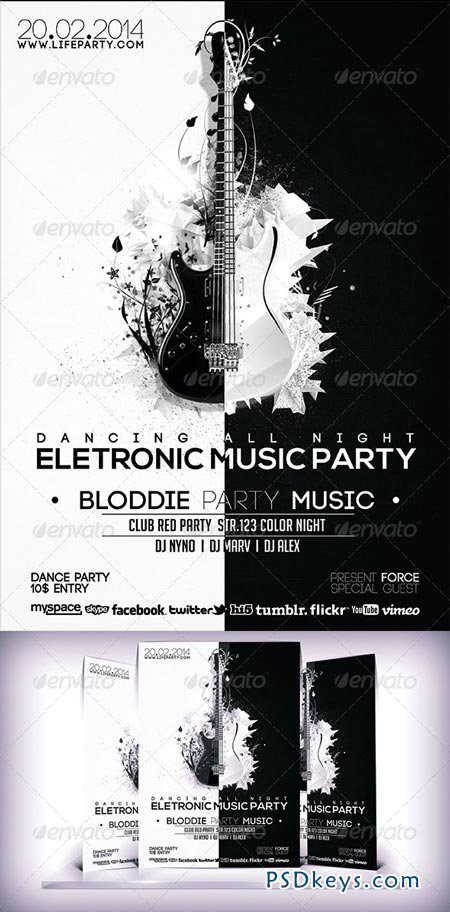 Electronic Music Party Flyer 6913776