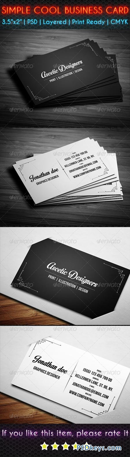 Simple Cool Business Card 6913127