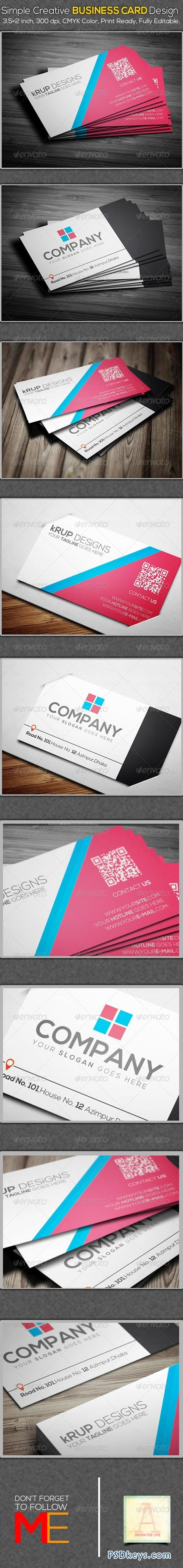 Simple Creative Business Card Design 6925320