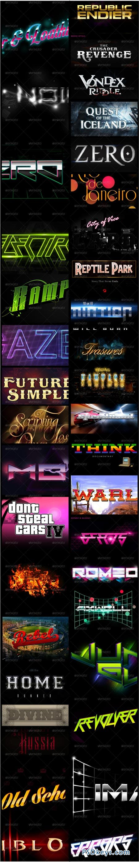 60 Text Effects Bundle 6679585