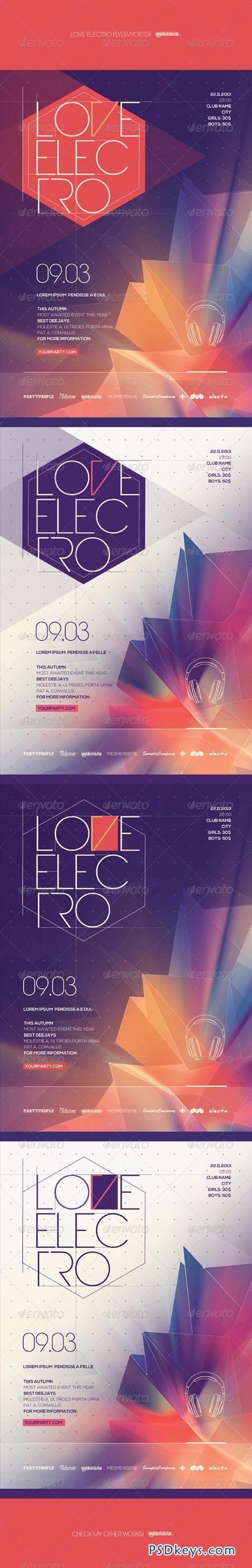 Love Electro Poster Flyer 7024227