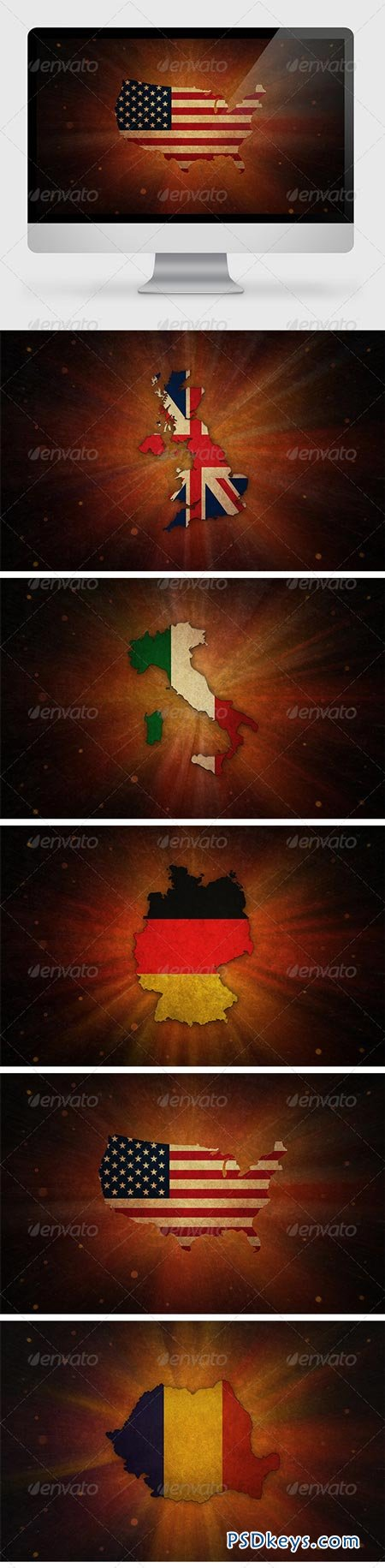 5 Countries Backgrounds 7093719
