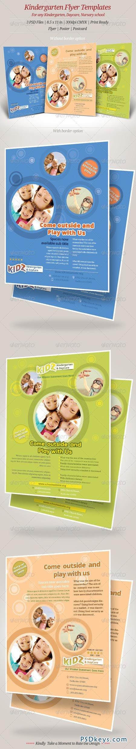 Kindergarten Daycare Flyer Templates 6972717