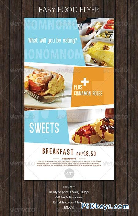 Food Flyer with Soft Colors 6308018