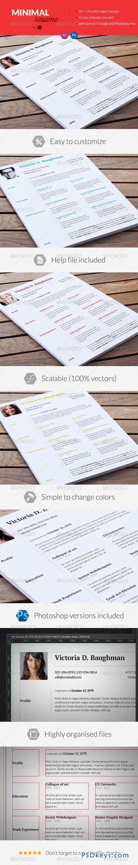 Clean Resume Minimal CV 6950665