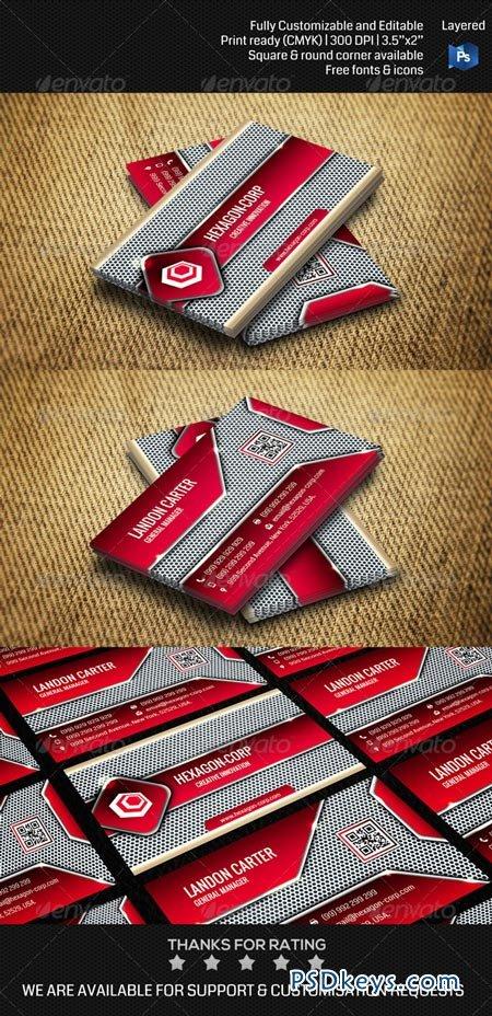 Hi-tech Futuristic Corporate Business Card THN011 6942417