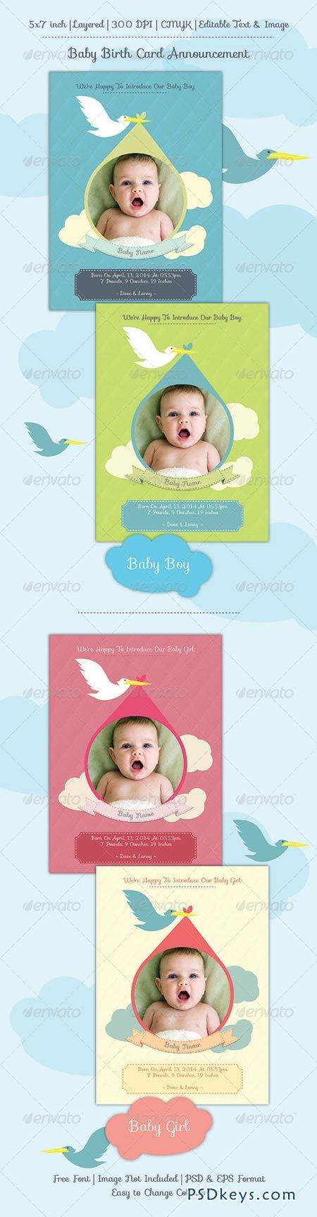 Baby Birth Announcement Card 6899658