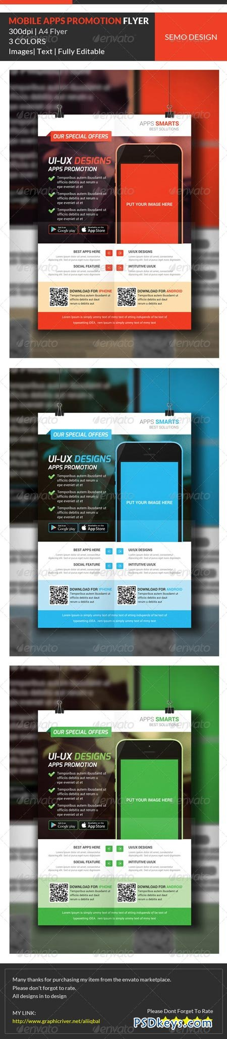 mobile apps promotion flyer template  mobile apps promotion flyer template 7097184