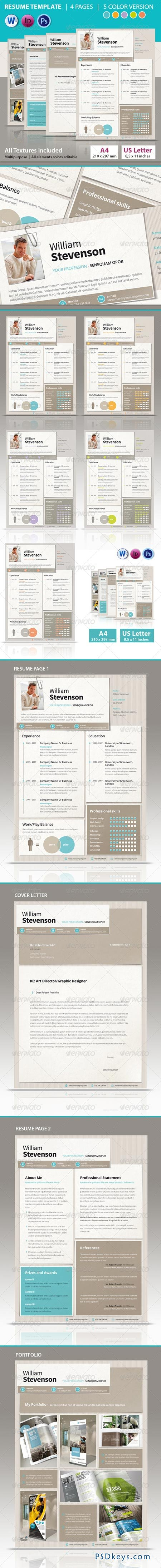 graphicriver resume 6926385 187 free photoshop
