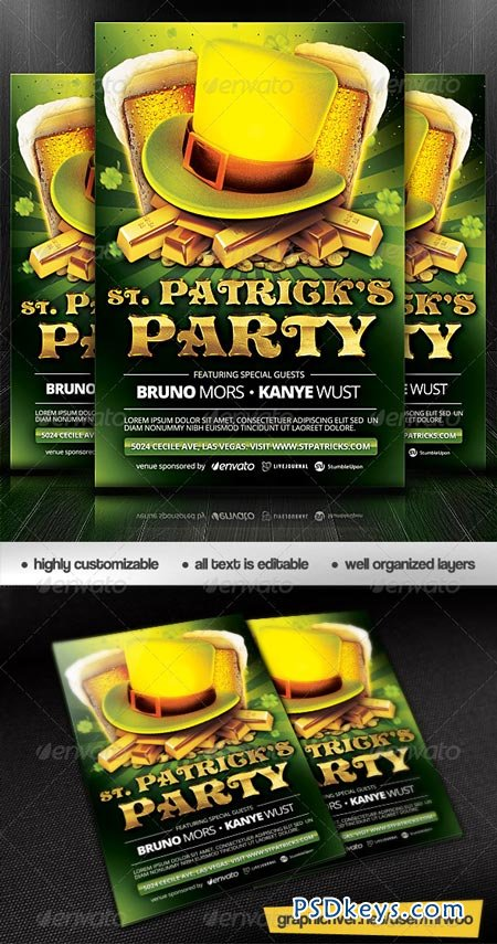 St. Patrick's Day Party Flyer 6961695