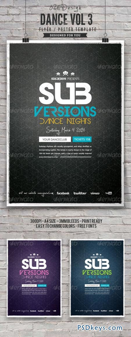 Dance Poster Flyer Vol 3 6961187