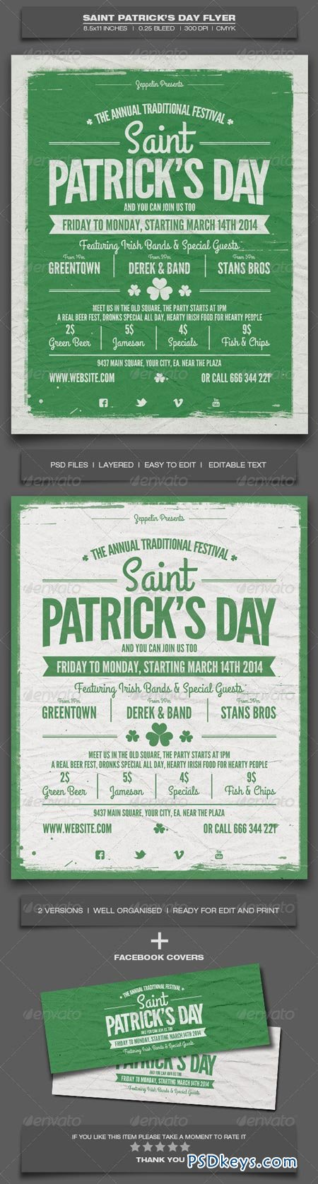 Saint Patrick's Day Flyer Template 6952780