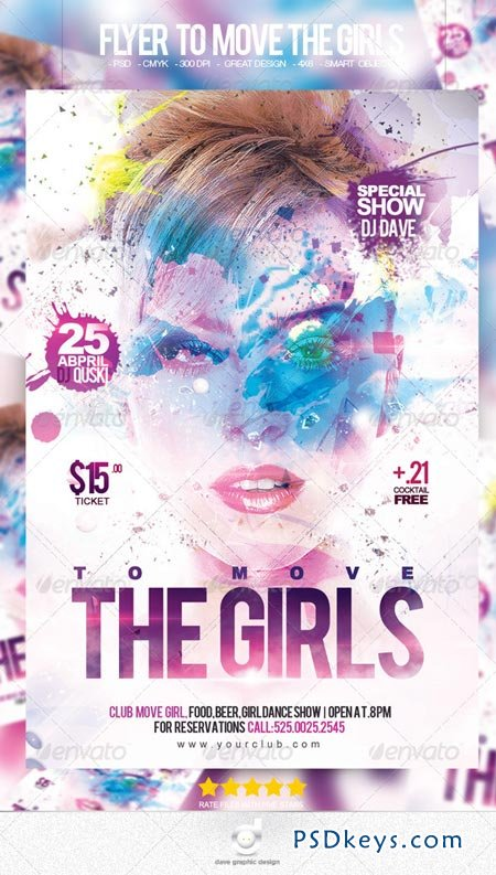 Flyer To Move The Girls Party 6951866