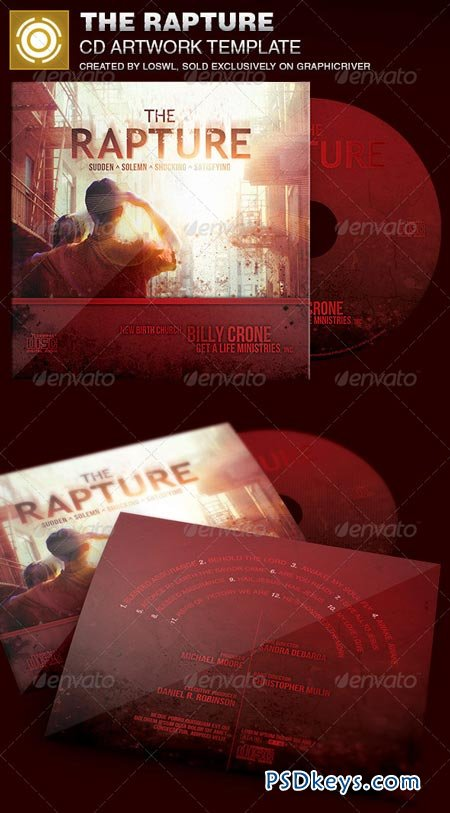 The Rapture CD Artwork Template 6951279