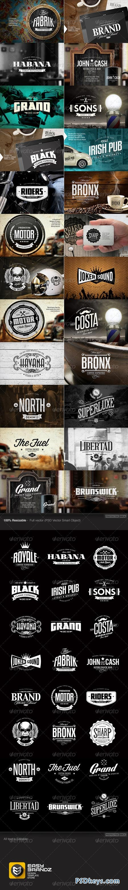 24 Badges & Logos Bundle 7103911