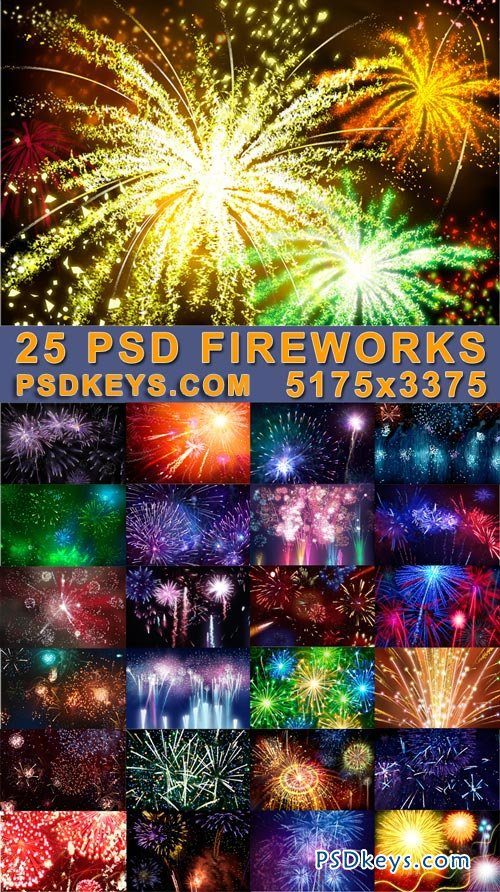 Bundle 25 Fireworks PSD Templates