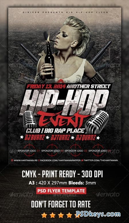 Hip-Hop Flyer 6924917 » Free Download Photoshop Vector Stock image ...
