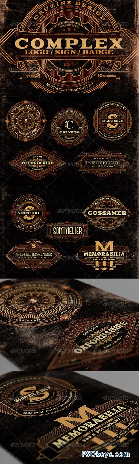 Complex Logos Signs Badges v.2 7045989