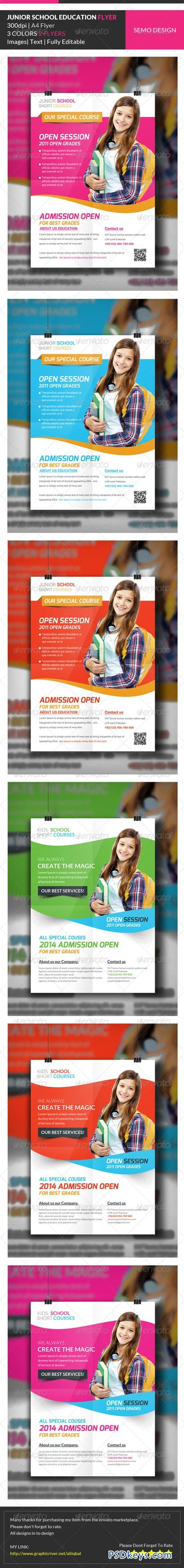 junior school education flyer template bundle 7016728 junior school education flyer template bundle 7016728