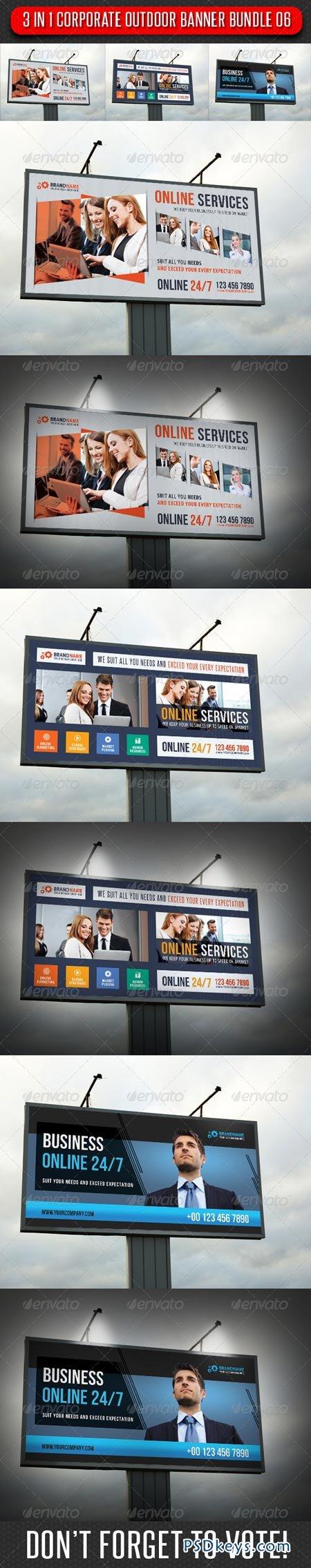3 in 1 Corporate Outdoor Banner Bundle 07 7006010