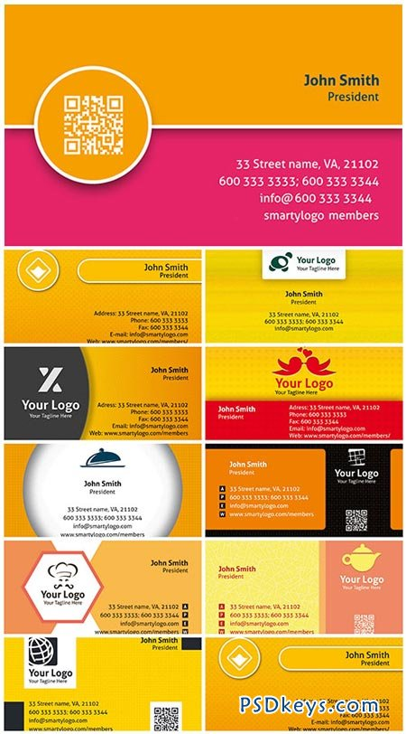 Colored Premium Business Cards PSD Templates Vol.1