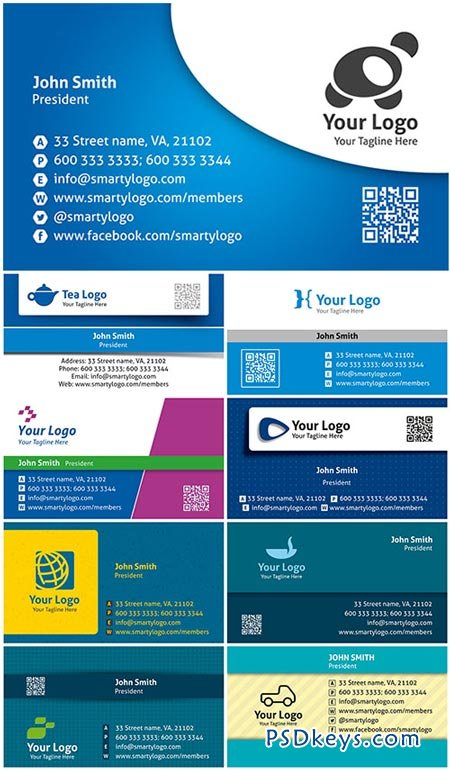Colored Premium Business Cards PSD Templates Vol.2