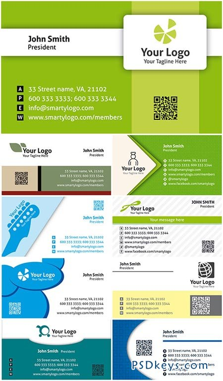 Colored Premium Business Cards PSD Templates Vol.6