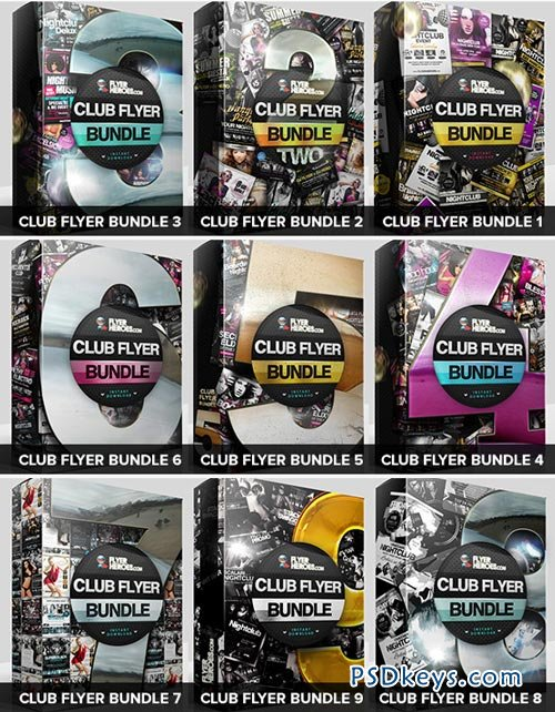 Flyerheroes the club flyer bundle packs free download photoshop vector stock image via torrent for Flyerheros