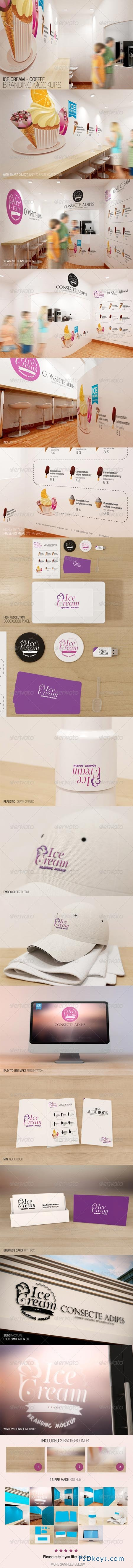 Ice Cream - Coffee Branding Mockups 7228959