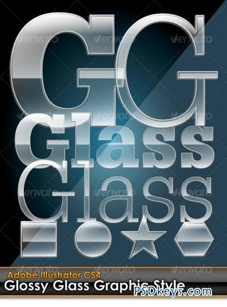 Glossy Glass Illustrator Graphic Style 98414